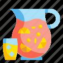 alcohol, beverage, bowl, drink, fruit, glass, sangria icon