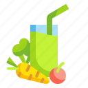 beverage, drink, food, fruit, glass, juice, vegetable icon