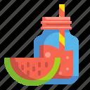 beverage, drink, food, fruit, glass, juice, watermelon icon