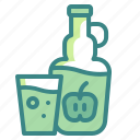 alcohol, beverage, cider, drink, fruit, glass, pub icon
