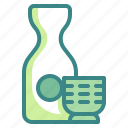alcohol, beverage, bottle, cup, drink, japan, sake icon