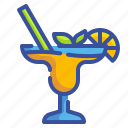 alcohol, beverage, cocktails, drink, fruit, glass, pub icon