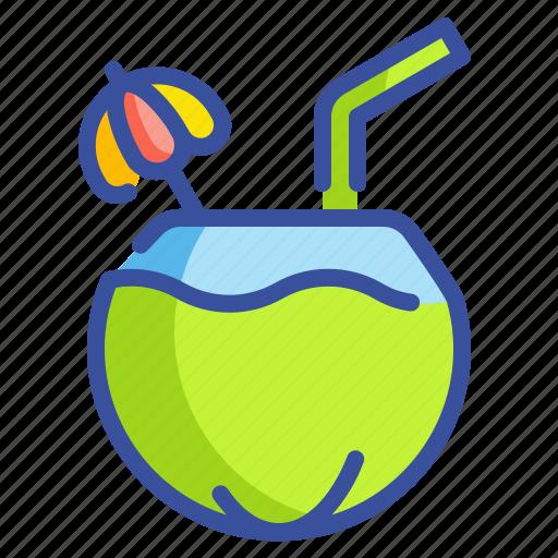 beverage, coconut, drink, food, fruit, juice, milk icon