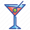 alcohol, beverage, cocktail, drink, glass, matini, pub icon