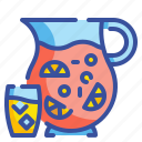 alcohol, beverage, bowl, drink, fruit, glass, sangria icon