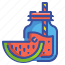 beverage, drink, food, fruit, glass, juice, watermelon icon