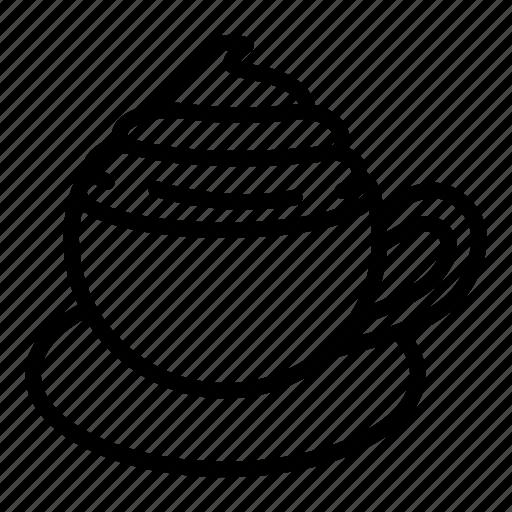 beverage, cafe, coffee, cream, cup, drink, tea icon
