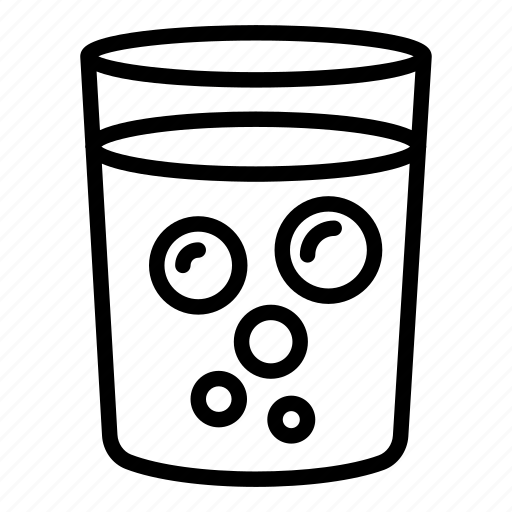 beverage, cold, drink, fizzy, glass, water, winter icon