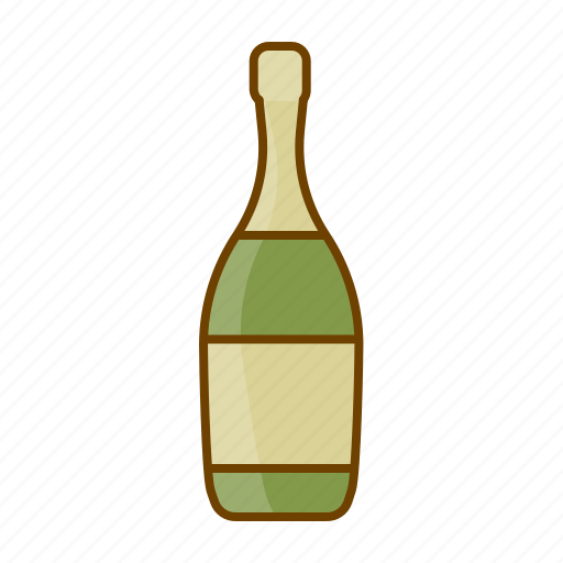 bottle, champagne, drink, party, sparking wine, white wine, wine icon