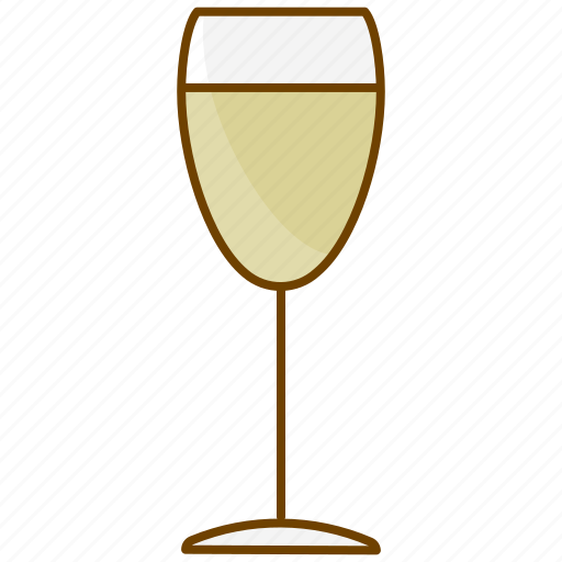 alcohol, beverage, champagne, drink, glass, white wine, wine icon