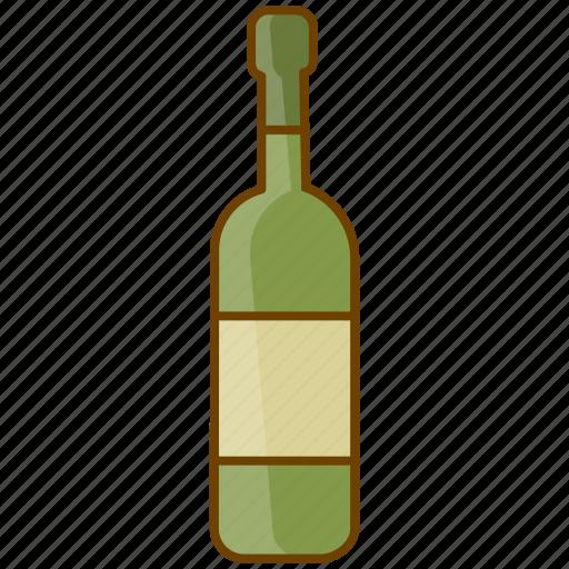 alcohol, beverage, bottle, celebration, drink, white wine, wine icon