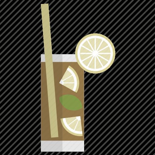 bar, celebration, cocktail, cuba libre, drink, glass, party icon