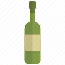 alcohol, beverage, bottle, drink, party, white wine, wine icon