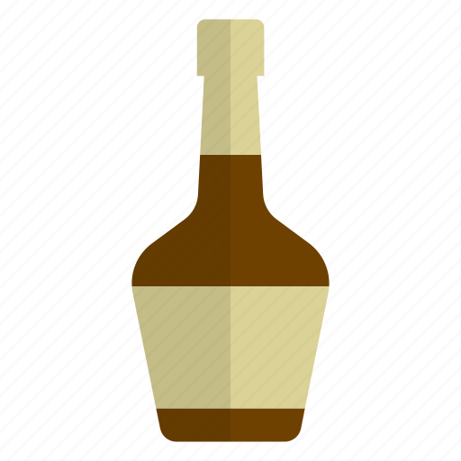 alcohol, beverage, bottle, brandy, cognac, drink, hang out icon