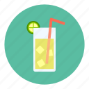cold, ice, lemon, tea icon