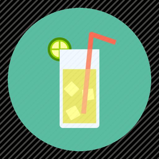 cold, ice, lemon, tea icon