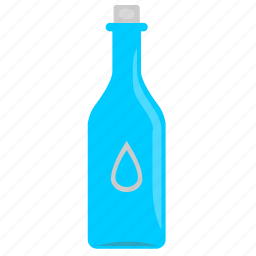 bottle, glass, mineral, water icon