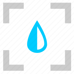detect, drink, drop, water icon