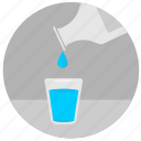 bottle, drink, drop, glass, water icon