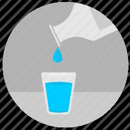 bottle, drink, drop, glass, water icon