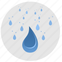 drops, fluid, rain, water icon