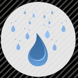 drops, fluid, rain, water icon