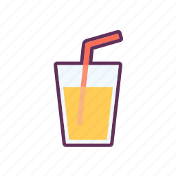 glass, juice, syrup, water icon