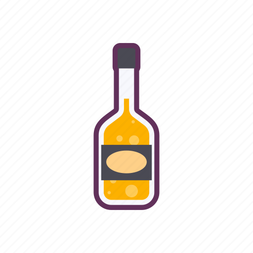 bottle, drink, glass icon