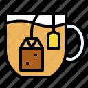 beverage, drinks, herbal, tea, tea bag icon