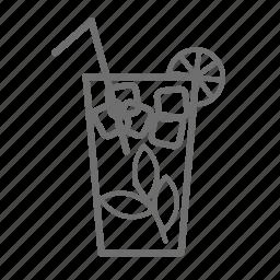 alcohol, beverage, cocktail, drink, lime, mohito, mojito icon
