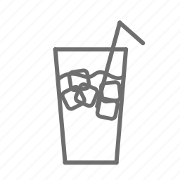 cola, drink, glass, ice, menu, restaurant, soda icon