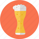 bar, beer, beer glass, beer with foam, glass, restaurant icon