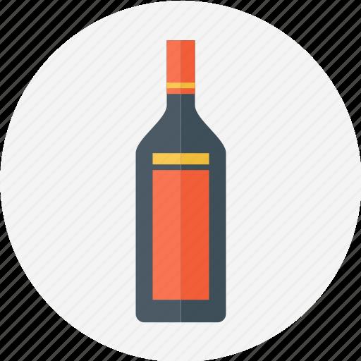 bottle, bottle of wine, cocktail, red wine bottle, wine bottle, wine jar icon