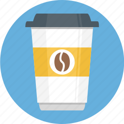coffe, coffee cup, covered, glass, lid icon