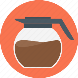 coffe, coffee, jar, jar of coffee, rounded icon