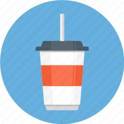 coffee cup, drink, glass, straw icon