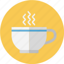 beverage, coffe, glass, hot, hot coffee, hot drink icon