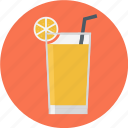 cocktail, glass, glass of juice, juice, orange juice icon