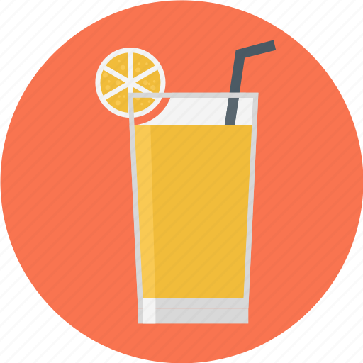 cocktail, glass, glass of juice, juice, orange juice icon