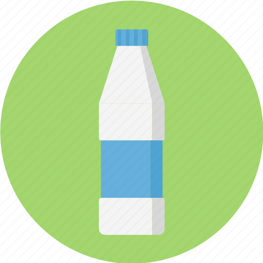 bottle of milk, bottle of water, glass, water, water bottle icon