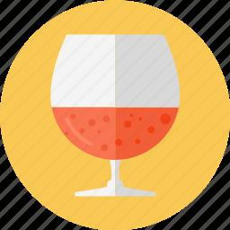 big wine glass, glass, glass of rum, red wine, wine icon