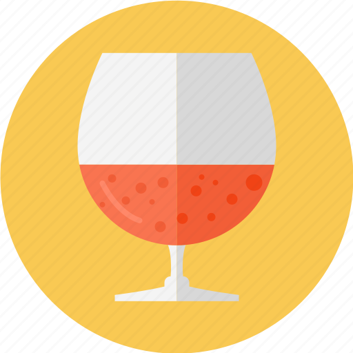 big wine glass, glass, glass of rum, red wine, wine icon