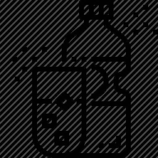 beverage, bottle, drink, glass, water icon