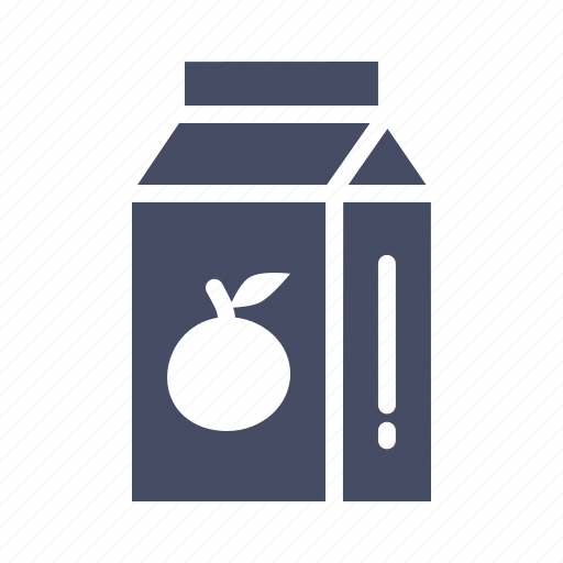 drink, fruit, juice, orange, packaged, tetrapack icon