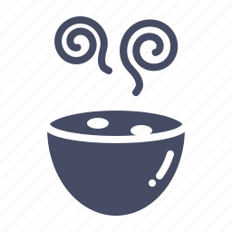 bowl, drink, hot, meal, soup icon