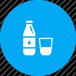 bottle, drink, glass, milk icon