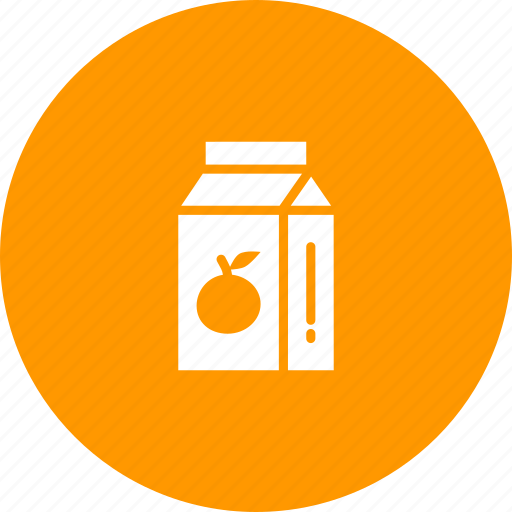 drink, fruit, juice, orange, packaged, tetrapack icon