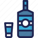 alcohol, beverage, bottle, drink, minibar, service icon