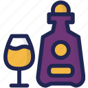 alcohol, beverage, bottle, brandy, cognac, drink icon