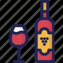 alcohol, beverage, bottle, drink, glass, minibar, wine